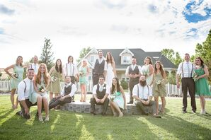 Green Wedding Party Attire