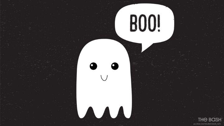 Cute Halloween Zoom Background - Boo Ghost