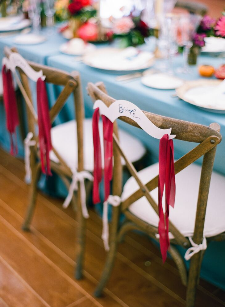 Whimsical Ribbon Chair Sign