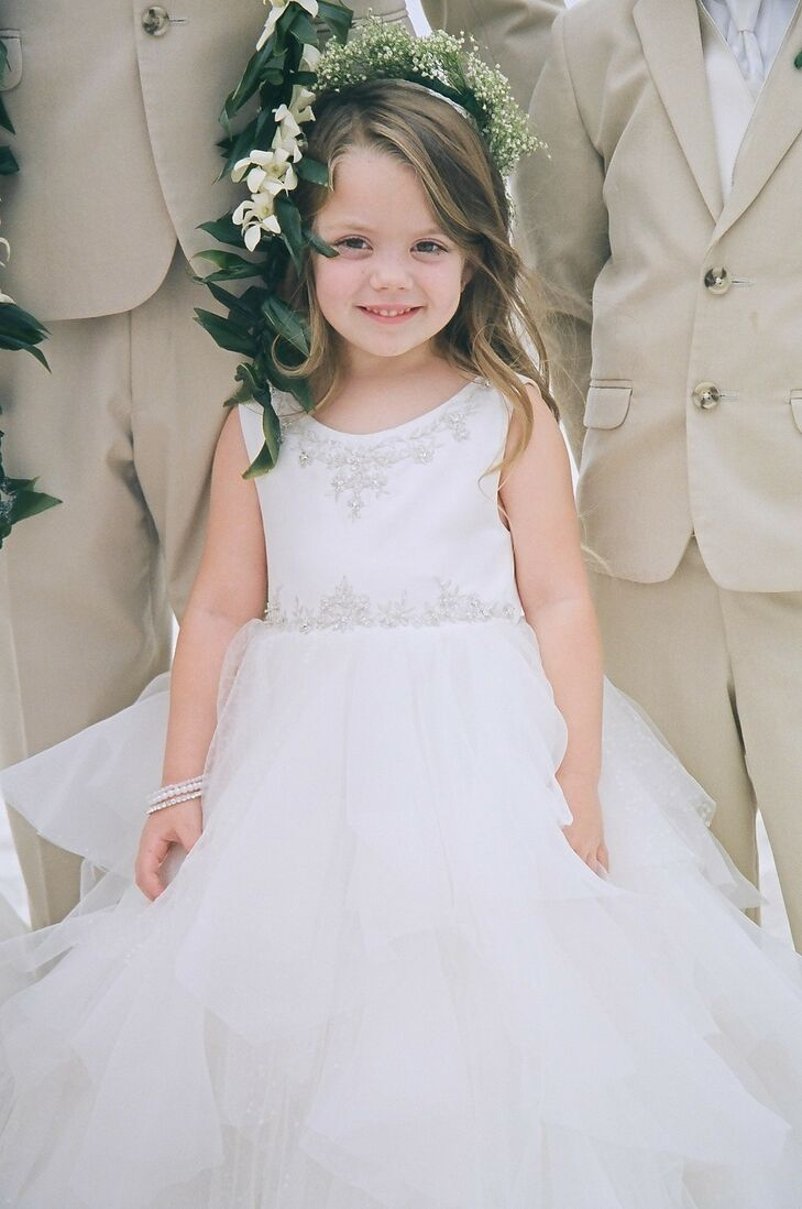 White Tulle Flower Girl Dress