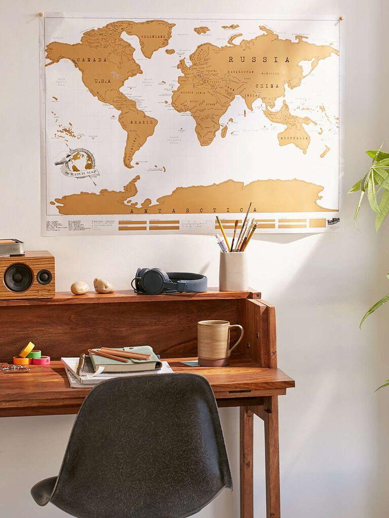 World Scratch Map registry gift