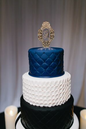 Textured Color Block Wedding Cake