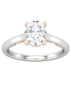 ever&ever Unique Oval Cut Engagement Ring