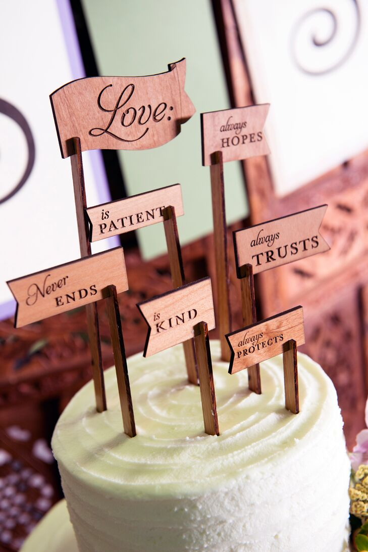 Wood Flag Cake Topper