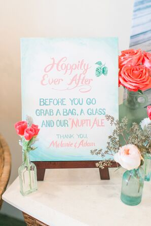 Watercolor Sign for Ale Guest Favors