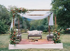 Mandap for Indian Ceremony at The Clifton Inn in Charlottesville, Virginia