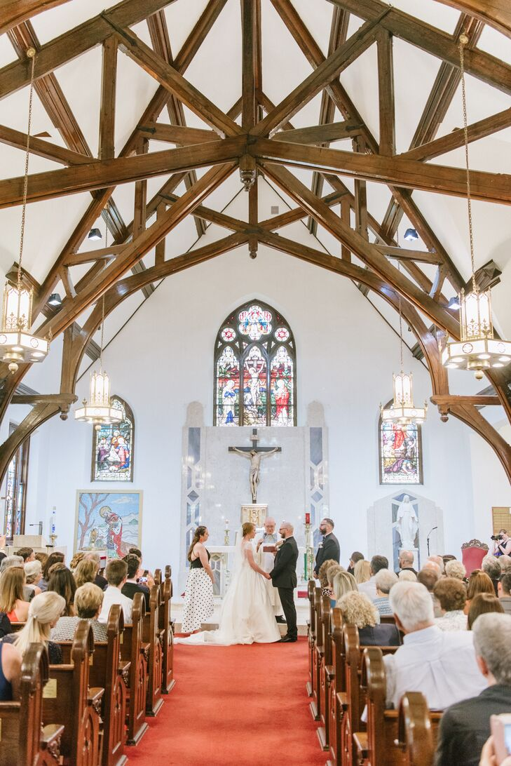 Traditional Catholic Church Wedding in Avon by the Sea, New Jersey