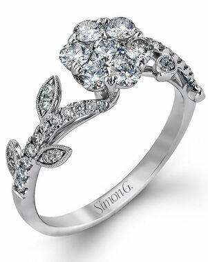 Simon G. Jewelry Cut Engagement Ring