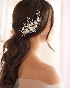 Dareth Colburn Daniella Floral Clip (TC-2423) Gold, Pink, Silver Pins, Combs + Clip