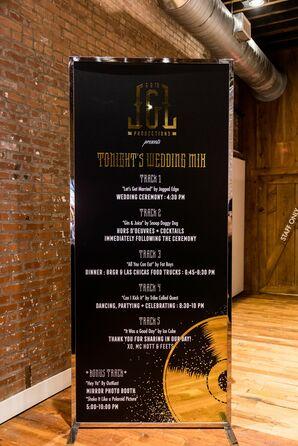 Modern Hip-Hop-Inspired Wedding Timeline Sign