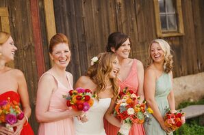 Mismatched J. Crew Bridesmaid Dresses