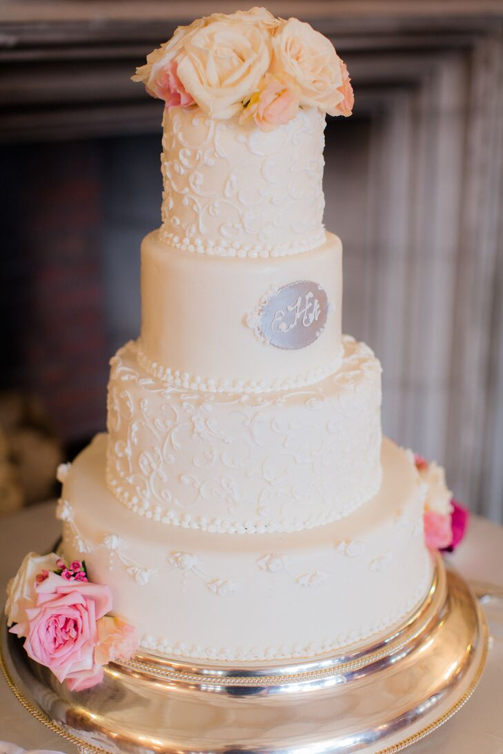 Blush Fondant Wedding Cake