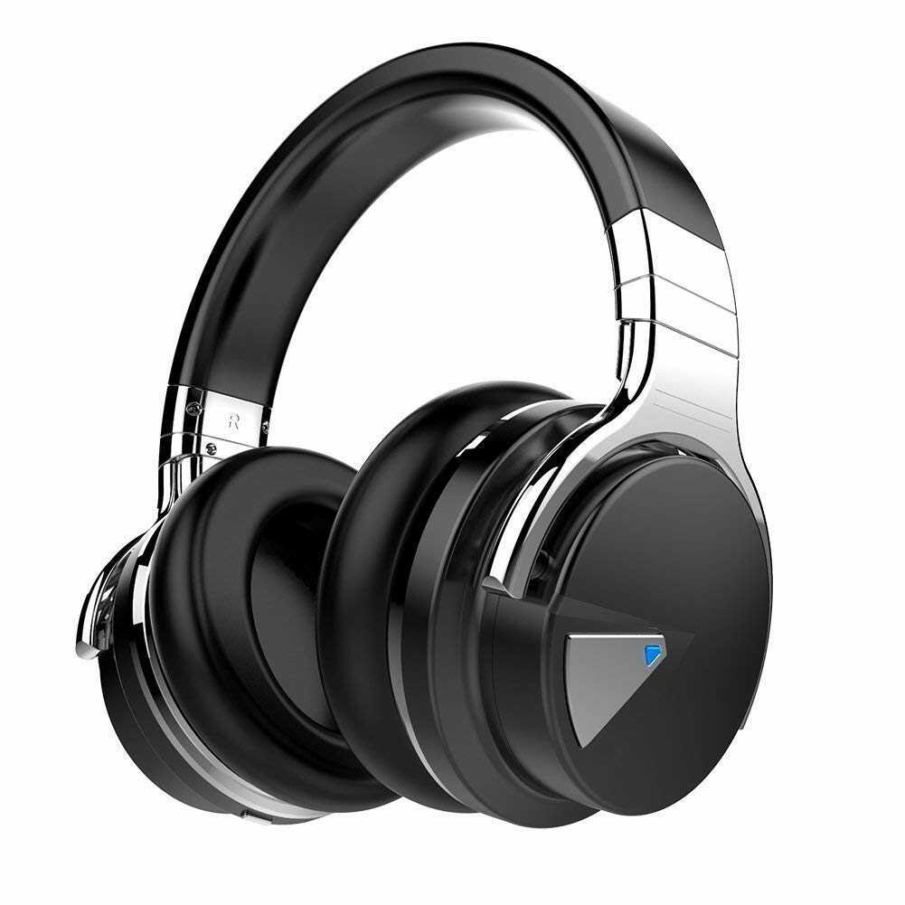 black and silver noise canceling headphones
