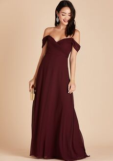 Birdy Grey Spence Convertible Dress in Cabernet V-Neck Bridesmaid Dress