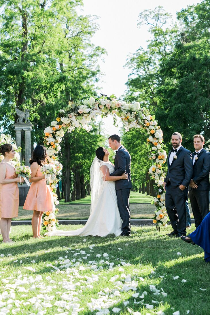 With the help of their officiant Christopher Shelley, the pair wrote the entire ceremony themselves to reflect their journey together, incorporating elements like a reading from a children's story (a nod to Noel's work with children) and an Irish blessing.