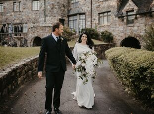 Kristen Forester and Patrick Jackson invited only close family members to their intimate wedding at The Castle on Stagecoach in Little Rock, Arkansas.