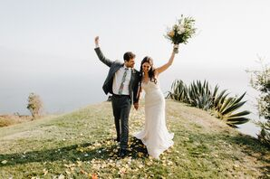 Classic, Natural Couple at Point 16 in Big Sur, California