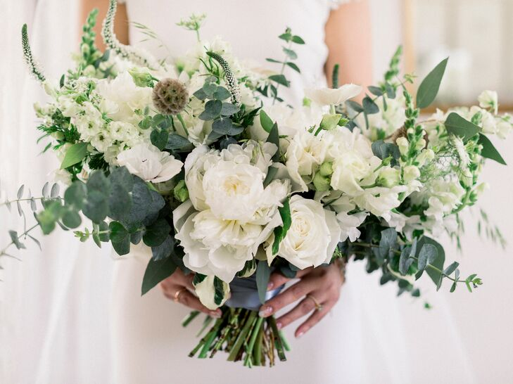 White-and-Green Bouquet for Wedding in Fayette, Missouri