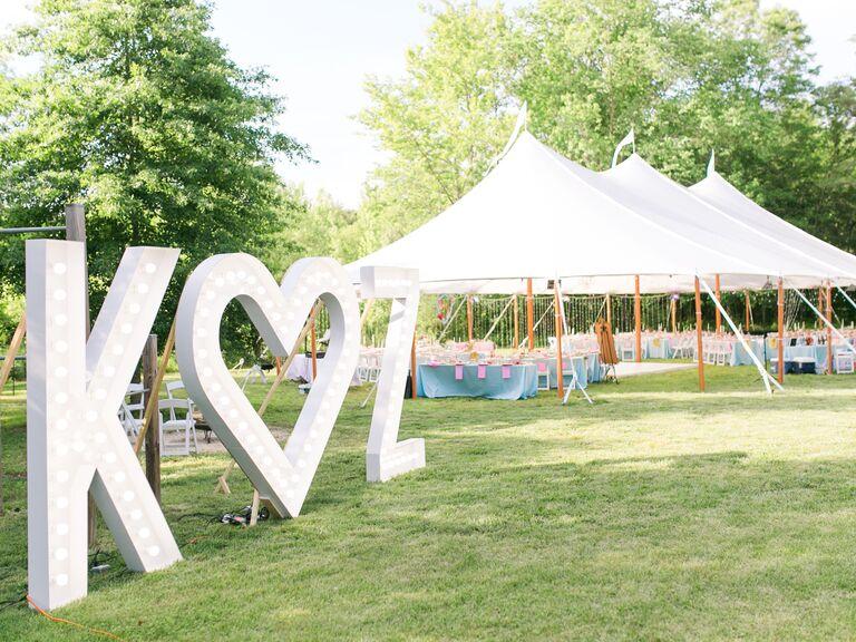 Backyard Wedding Ideas Letter Statements