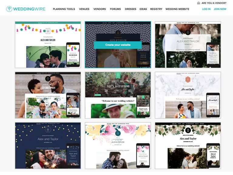 bilingual wedding websites