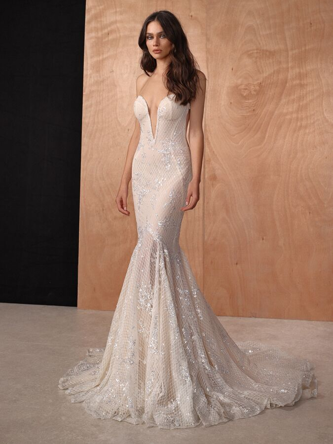 Gala by Galia Lahav sweetheart neckline mermaid wedding dress