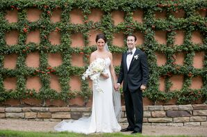 Illusion Lace Gown and Floor-Length Veil