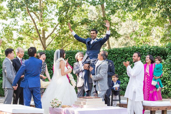"""We performed traditions such as circling the flame and walking seven steps together to represent seven marriage vows,"" Kristina says of the Indian service, which was followed by a nondenominational ceremony led by the couple's former boss."