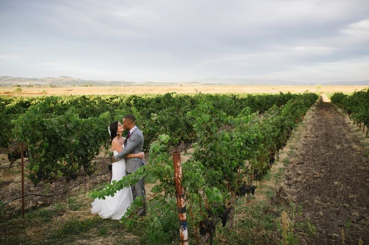 The Italian-style Jacuzzi Family Vineyards in Sonoma, California, won over the hearts of Christine Barker (31 and an account manager) and Doug Harriso