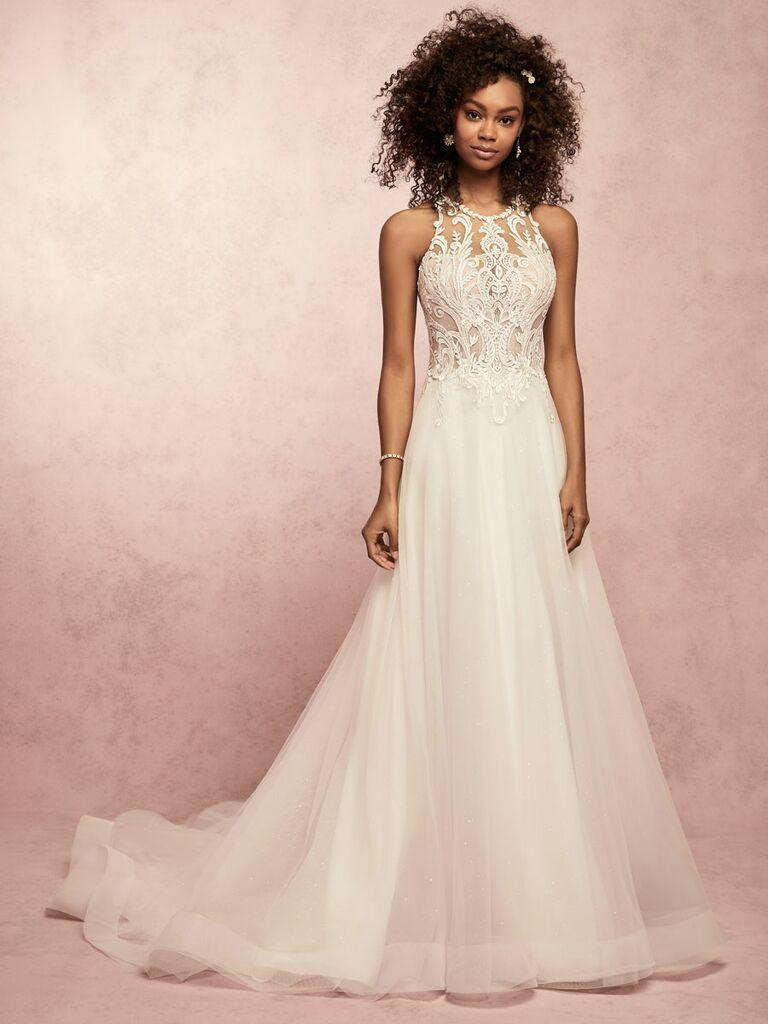 Rebecca Ingram Spring 2019 halter neck wedding dress