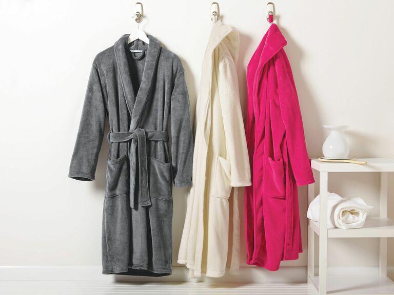 fleece bridesmaid robes