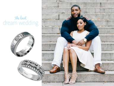Devon Still and Asha Joyce and their wedding ring choices