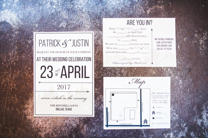 Modern Invitation Suite with Bold Typography