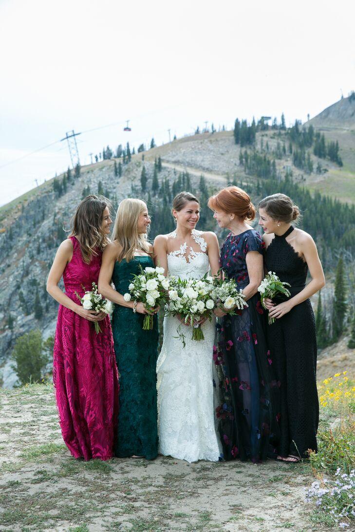 db99895b7ccd Mismatched Jewel Tone Bridesmaid Dresses