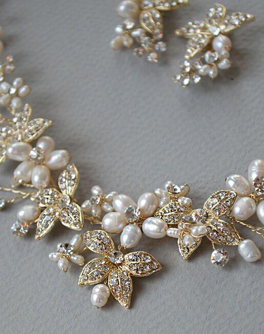 Dareth Colburn Floral Garden Pearl Jewelry Set (JS-1670-G) Wedding Necklaces photo