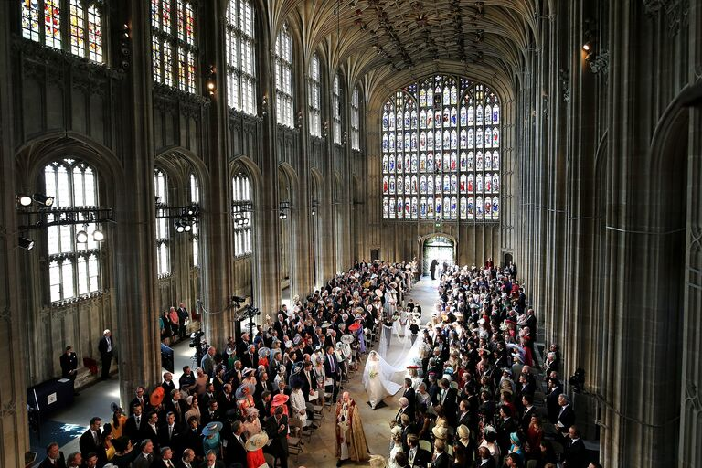 meghan markle royal wedding aisle