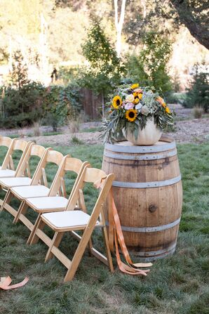 Wooden Folding Chairs and Aisle Decoration