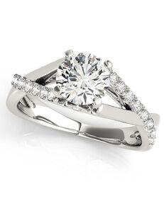 DiamondWish.com Glamorous Round Cut Engagement Ring
