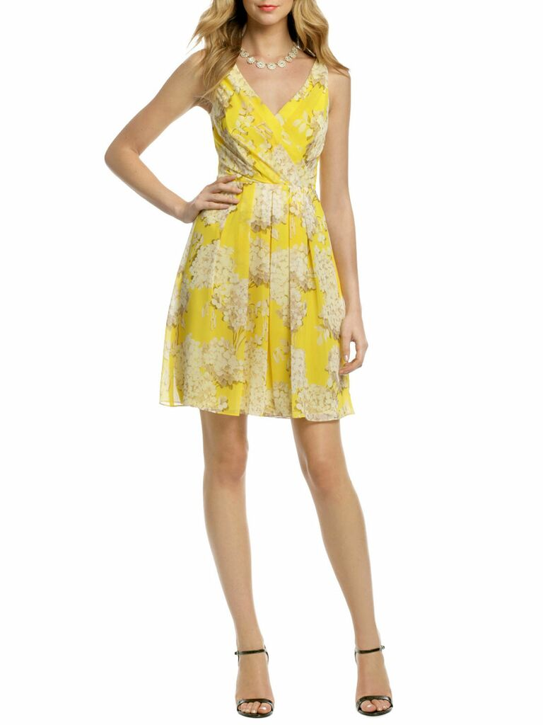 canary hydrangea dress
