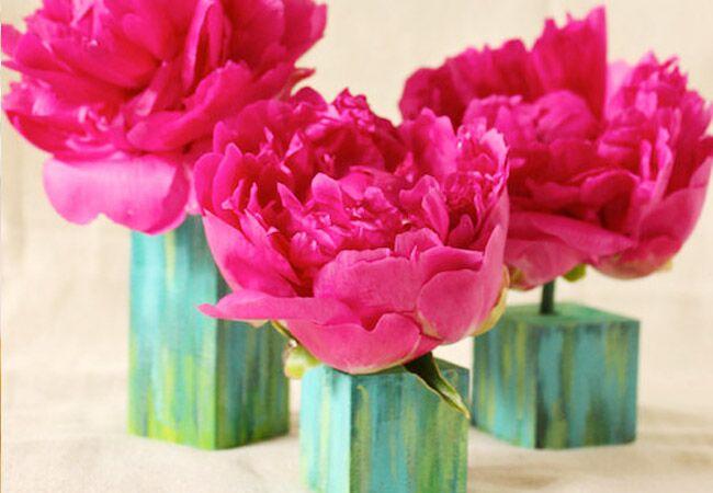 Watercolor Bud Vase Blocks