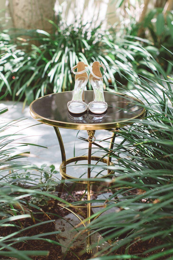 Glam Badgley Mischka Crystal-Embellished Heels