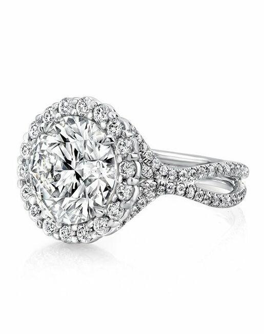 Uneek Fine Jewelry Round Cut Engagement Ring