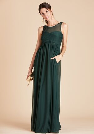 Birdy Grey Ryan Mesh Dress in Emerald Illusion Bridesmaid Dress