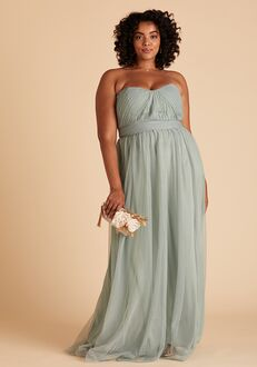 Birdy Grey Christina Convertible Curve Dress in Sage Strapless Bridesmaid Dress