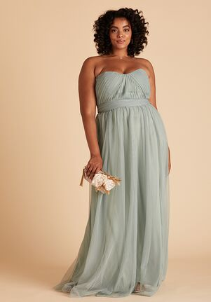Birdy Grey Christina Convertible Curve Dress in Sage Strapless Bridesmaid Dress