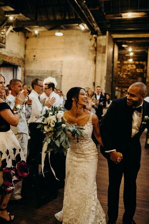Recessional at Urban Warehouse Wedding in Detroit, Michigan