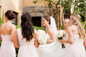 Pink Bill Levkoff Bridesmaid Dresses