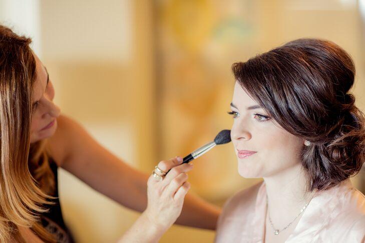 Blushing Bride Getting Ready