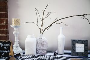 Black and White Table, Rustic Decor