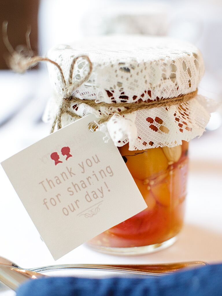 Classic thank-you wedding favor label