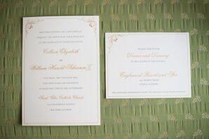 Traditional Cream-Colored Invitation Suite